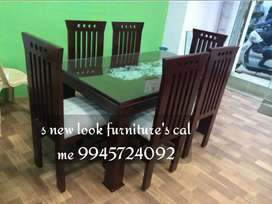 WOODEN DAINING SPRAIFINISHING .4CHER SATH .AVAILABLE