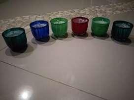 Glass candles handmade