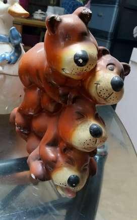 Dijual Patung Antik 3 Beruang kondisi Mulus Bagus Istimewa