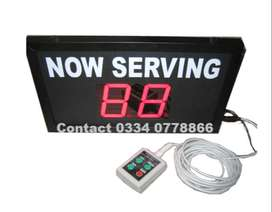 Queue Management System Token Number Display Take A Number System LCD