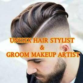 UNISEX HAIR STYLIST & GROOM MAKEUP ARTIST