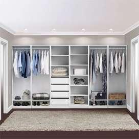 Lemari pakaian,rak pakaian,wardrobe,walk in closet finising hpl