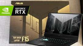 ASUS TUF DASH FX516PE Ci7-11370H 16GB SSD VGA RTX3050Ti  Cash & Kredit