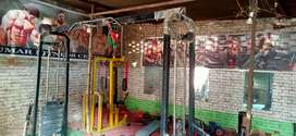Crossover 2 bench 1 cycle apps machine butterfly dumble plates