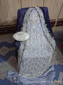 Bridal Maxi latest design embroidery with Clutch