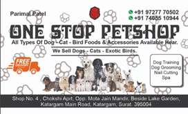 All types pets foods available