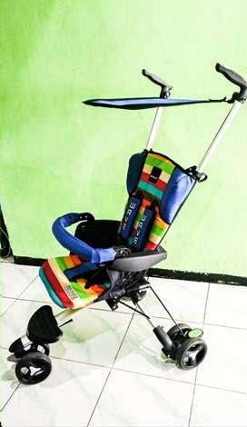 Di jual stroller baby merk wave, kondisi mulus