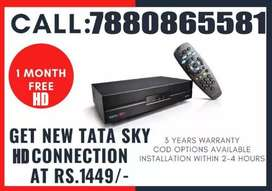 TATA SKY OFFER-HDBOX +1 MONTH FREE HD PACK@1449-DISH TV TATASKY AIRTEL