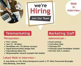 Lowongan Kerja Telemarketing &  Marketing Staff