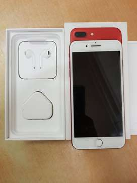 7 plus in red with all accessories in 128 GB