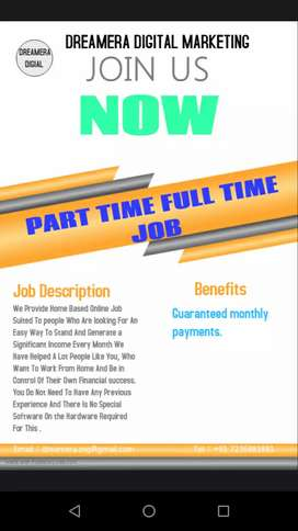Part time full time job unlimited earning