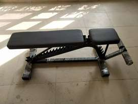 Gym bench with adjustable feature