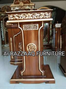 Mimbar kayu jati Ar Razzaq -0220