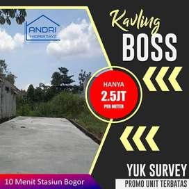 Jual tanah Kavling Siap Bangun SHM per meter 2.5 juta di Bogor