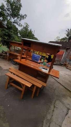 Gerobak Wedangan Angkringan free Ongkir COD 2154