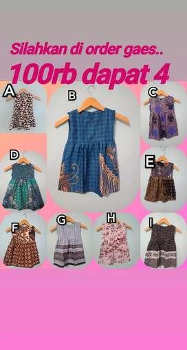 Batik anak/dress batik /dress batik anak /gaun batik/batikjogja