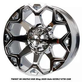 jualpelek racing hsr R20 chrome limited edition,Pajero,Strada,Fortuner