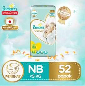 pampers premium care NB 52 / newborn isi 52pc