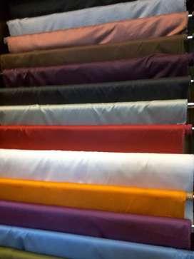 Linen, Cotton,Rayon,Sutra, Polos dan motif..