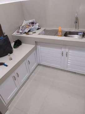 Tempahan kitchen set aluminium