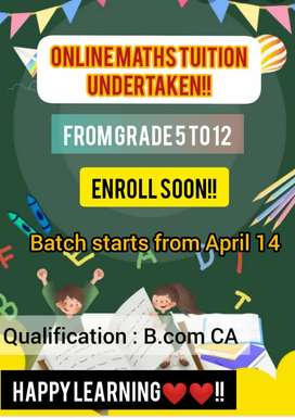 Online tuition for maths 5 to 12