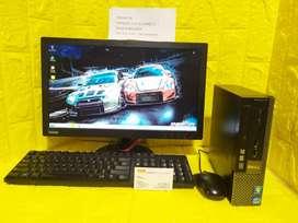 PC cpu Dell Core i7 Ram 8gb hdd 500gb free WIFI ZOOM sekolah kuliah
