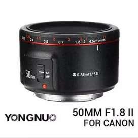 Lensa fix yongnuo Yongnuo YN 50mm F1.8 II mark 2 for canon