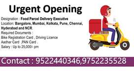 Food Parcel Delivery Executive Chandigarh