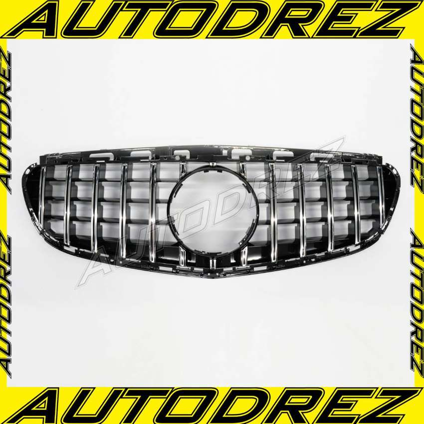 Grill Mercy E-Class W212 AMG GT Facelift Black Chrome 2014 - 2016 0
