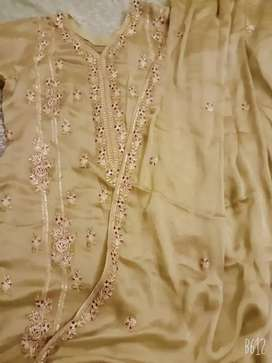 Silk mehndi colour 3 piece