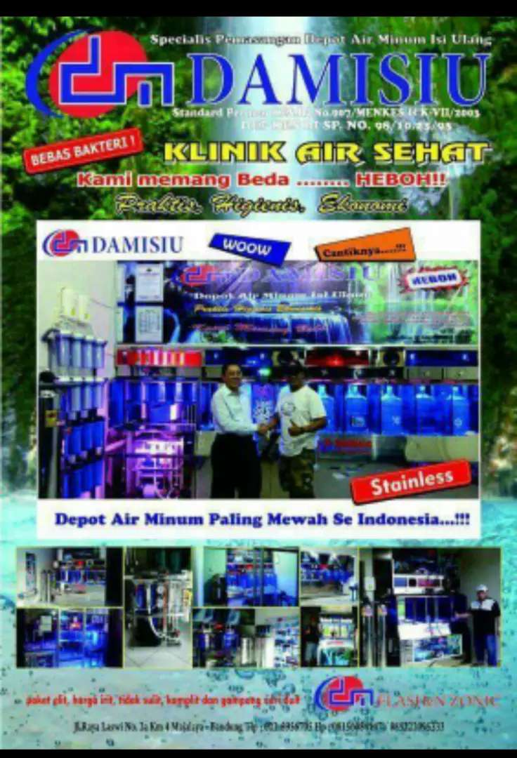 Aneka model depot air minum partisi Stainlees made in Damisiu 0