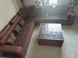 7 sitter sofa with table