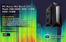 PC Rakitan Intel Core I5 3470 RAM 8GB DDR3 SSD 120GB HDD 500GB