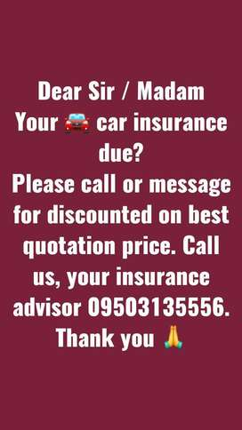 Call for best car insurance quote and best valuation of your car