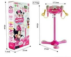 Standing Mic 2 minnie mouse/  Mainan Anak Mic / Nyanyi Bisa Handphone