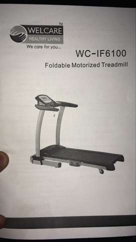 Black And Gray Welcare WC-IF6100 Treadmill