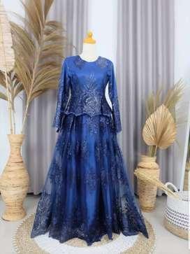 Gaun/Dress Muslimah (Free jilbab)