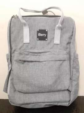 Tas IBerry Ransel Rangsel Baby Bayi Diaper Bag Abu I Berry I-Berry