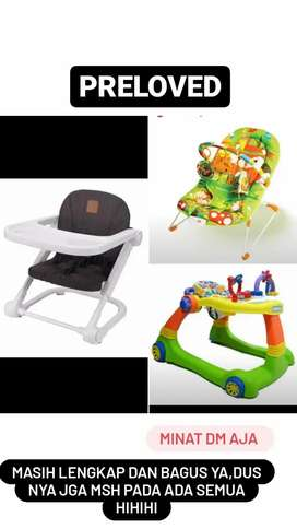 Baby walker,meja makan dan bouncer