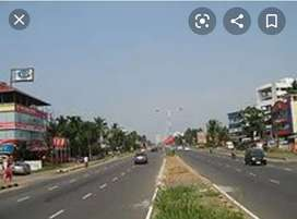 7 acres of land highway front at vytila bypass