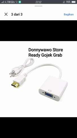Converter Hdmi to Vga kabel Audio Proyektor notebook laptop