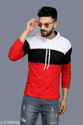 Standard men's cotton hoodie t-shirt