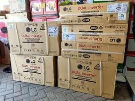 AC inverter 1/2 pk - AC LG t 06 ev 4 - plus pemasangan & material