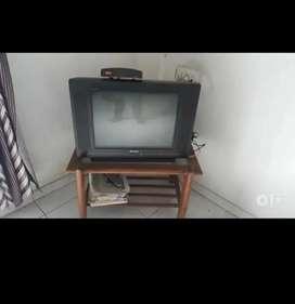 videocon 21 inch tv and set top box