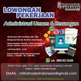 Lowongan Kerja Semarang Admin umum keuangan, wanita, Min SMK