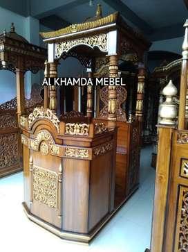 Ready mimbar masjid kerajinan jepara free ongkir