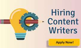 """We are hiring """"CONTENT WRITERS"""" on an urgent basis"""