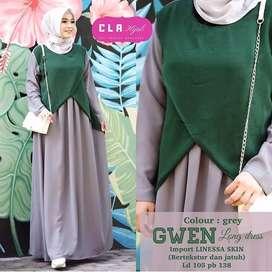 Gwen Long Dress Emerald
