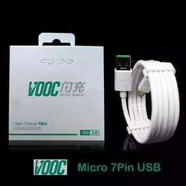 Kabel Data OPPO VOOC 4A Micro USB 7 pind Original 100%