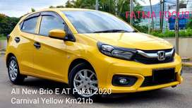 Honda All New Brio E AT Pemakaian 2020 Carnival Yellow Bisa TT Jazz
